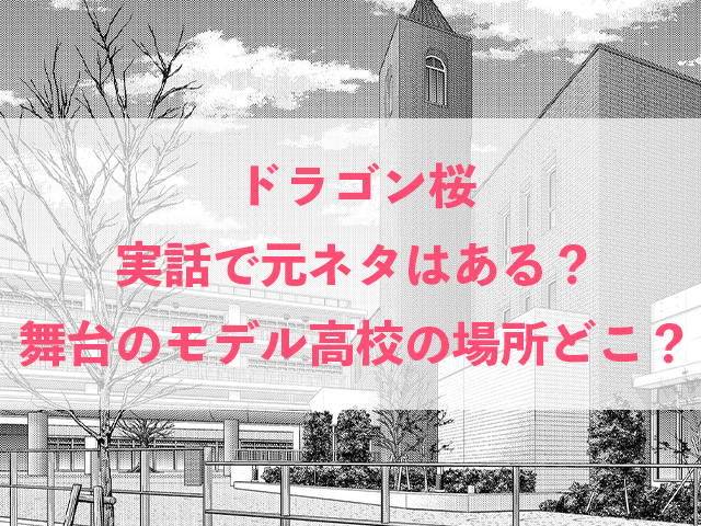 ドラゴン桜 実話 元ネタ 舞台 モデル 高校 場所 どこ